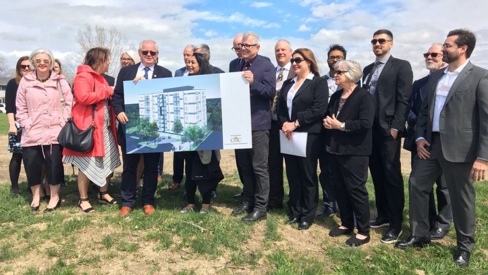 Windsor is getting $22 million from the federal government for safe and affordable housing in Windsor, Ont., on Tuesday, April 23, 2019. (Ricardo Veneza / CTV Windsor)