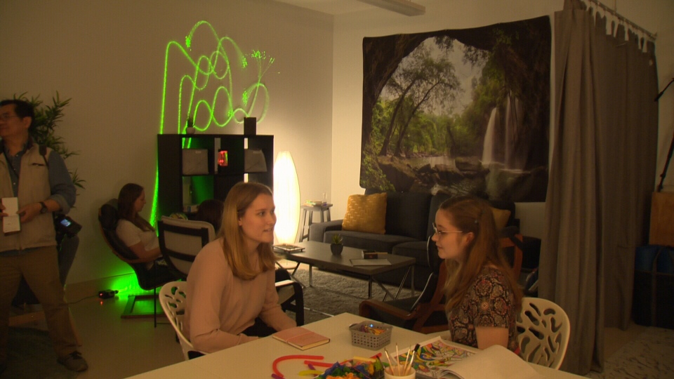 A new space at the University of Alberta, called the Calm Room, offers students a way to take a break without totally disengaging.