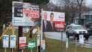 A sign dealing with a referendum question in the Prince Edward Island provincial election is displayed in Charlottetown on Tuesday, April 23, 2019. The referendum deals with the mixed member proportional voting system. THE CANADIAN PRESS/Andrew Vaughan