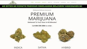 A delivery company is promising marijuana to your door in an hour.
