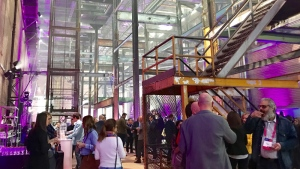 The Rossdale Power Plant opened its doors for the SingularityU Canada Summit reception Tuesday night.