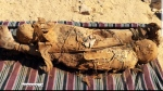 Egypt says archaeologists have uncovered an ancient tomb with mummies believed to date back about 2,000 years in the southern city of Aswan. (Twitter / @AntiquitiesOf)