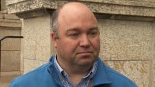 Cpl. Graeme Kingdon was hit with pellets