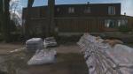 sandbags outside home