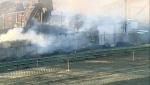 Recycling plant fire Calgary