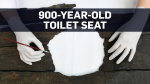 12th century toilet seat perfectly preserved