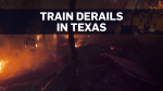 Train carrying ethanol derails in Texas