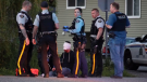 Police respond to a stabbing in Surrey that left a man with potentially life-altering injuries on Tuesday, April 23, 2019.