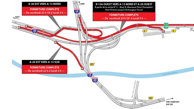 turcot closures April 26