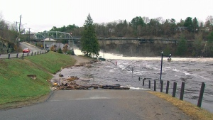 Flooding in Bracebridge, Ont., Wednesday, April 24, 2019. (CTV News)