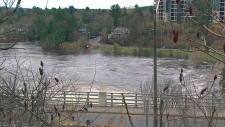 Flooding in Bracebridge, Ont