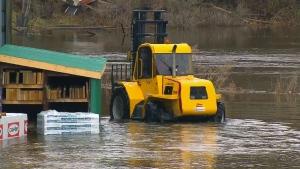 Flooding in Bracebridge, Ont.
