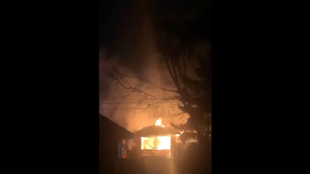 Early morning fire destroys northwest garage