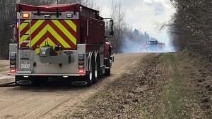 Crews were called to a grass fire in Sturgeon County on April 24, 2019. (BRANDON LYNCH/CTV EDMONTON)