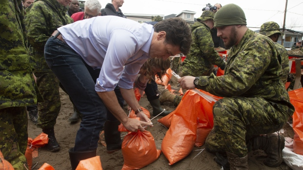 Recurrent flooding due to climate change a 'new reality,' Trudeau says
