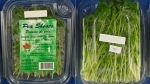 Packaged pea shoots produced by Golden Mushrooms Ltd. are being recalled because of fears they may be contaminated with Listeria. (Canadian Food Inspection Agency)