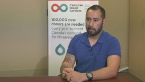 A Delta police officer who was stabbed while off-duty is calling for more potential blood donors to come forward to help those in need. (CTV News Vancouver)