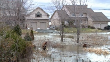 Flooding in Clarence-Rockland.