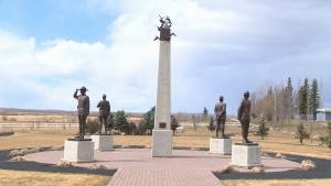 Fallen Four Memorial in Mayerthorpe, Alberta.