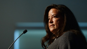 Former justice minister Jody Wilson-Raybould gives the keynote speech to the First Nations Justice Council in Richmond, B.C., on Wednesday, April 24, 2019. THE CANADIAN PRESS/Jonathan Hayward