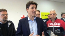 Prime Minister tours Gatineau flood zone