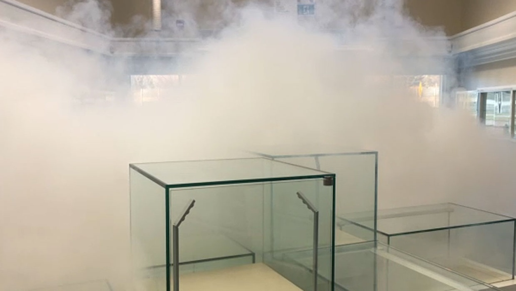 Smokescreen security inside Calgary jewelry store completely blinds intruders in seconds