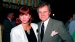 "This June 13, 1986 file photo shows actress Victoria Principal, left, and actor Ken Kercheval, co-stars of the popular TV-show ""Dallas."" Agent Jeff Fisher said Kercheval died Easter Sunday in Clinton, Ind. (AP Photo/Craig Mathew, File)"