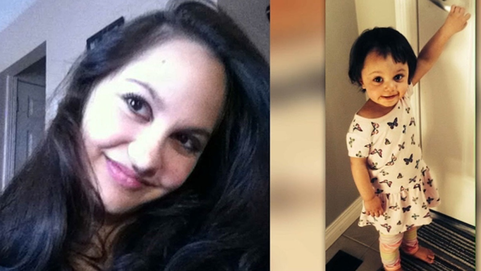 Jasmine Lovett and her daughter Aliyah Sanderson were last seen alive on April 16, 2019 (images: Calgary Police Service)