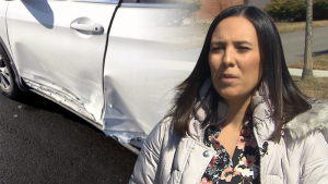 Tanya Maiato's vehicle was damaged while driving for Skip the Dishes. Her claim was denied.