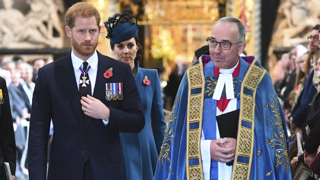Prince Harry,Kate and the Dean of Westminster