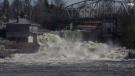 Flood waters rise in Bracebridge, Ont.