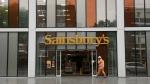 Sainsbury's flagship store in the Nine Elms area of London, on April 30, 2018.  (Matt Dunham / AP)