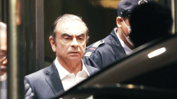 Carlos Ghosn leaves the Tokyo Detention Centre