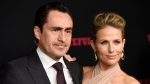This Dec. 7, 2015 file photo shows Demian Bichir, a cast member in 'The Hateful Eight,' and his wife Stefanie Sherk at the premiere of the film in Los Angeles. (Photo by Chris Pizzello/Invision/AP, File)