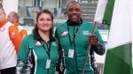 Nigerian curling team