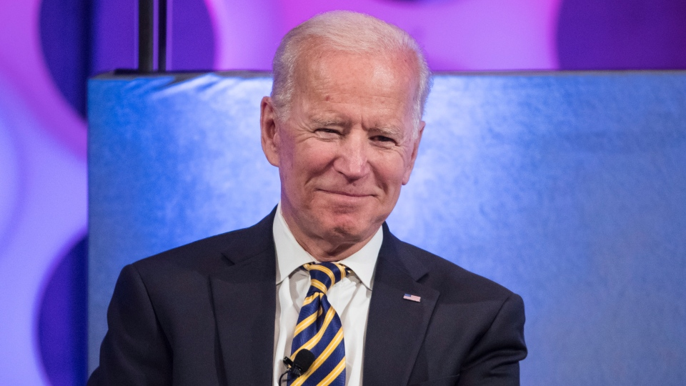 In this April 11, 2019 file photo, former vice-president Joe Biden takes part in a forum on the opioid epidemic, at the University of Pennsylvania in Philadelphia. (AP Photo/Matt Rourke)