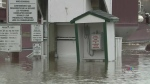 Rising floodwaters in New Brunswick have forced th