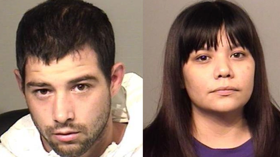 Chad Wray-McCombs, 29, and Lori Ruth Ann Statts, 25, are being sought in connection to the incident. (Source: Brantford Police Service)