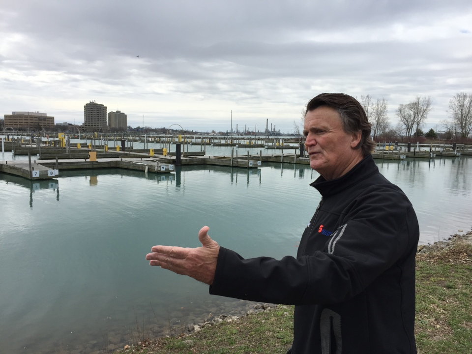Dave Brown, owner of Sarnia Bay Marina, says extensive damage was done to his marina after thieves removed copper wire from under the docks.