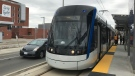 An LRT vehicle seen on April 25, 2019. (Chase Banger / CTV Kitchener)