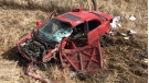 Oakbank RCMP responded to the collision on Briercliff Road in the Rural Municipality of Springfield, Man., at around 4 pm. (Source: Manitoba RCMP)