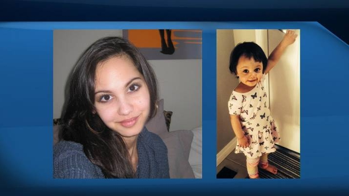 Investigators said Thursday they have been unable to find any evidence confirming that 25-year-old Jasmine Lovett and her 22-month-old daughter Aliyah Sanderson are alive. (Calgary Police Service)