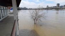 Ottawa Rowing Club flooded