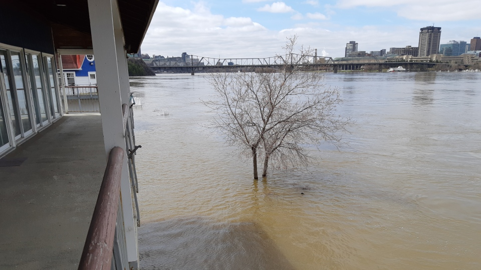 Ottawa Rowing Club flooded / Photo Courtesy: Paul Hawksworth