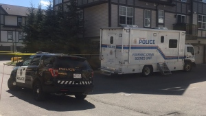 Calgary police are searching a home in Cranston in connection with the suspected double murder of Jasmine Lovett and her daughter Aliyah Sanderson.