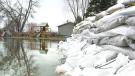 Flooding closes Cumberland ferry