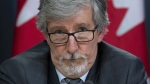 Canada's Privacy Commissioner Daniel Therrien speaks during a news conference, Thursday, April 25, 2019 in Ottawa. (THE CANADIAN PRESS / Adrian Wyld)