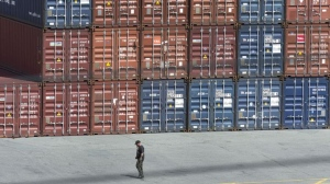 Shipping containers FILE PHOTO.