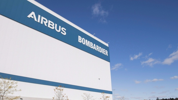 A Bombardier Airbus assembly plant is shown in Mirabel, Que., Friday, October 26, 2018. THE CANADIAN PRESS/Graham Hughes