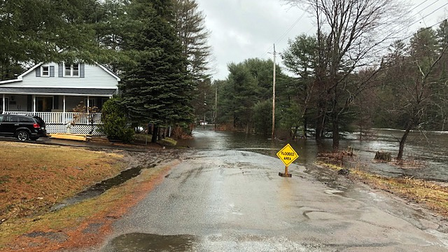 Residents in low-lying areas of Bracebridge are bracing for further flood concerns as more rain is expected. (Sean MacInnes/CTV News Toronto)